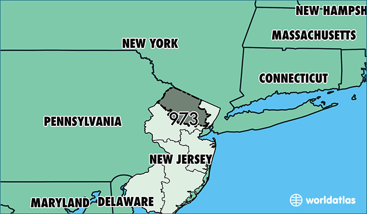 Where Is Area Code 973  Map Of Area Code 973  Newark NJ Area Code