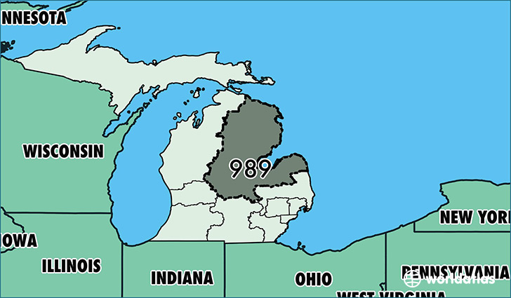 Saginaw Mi Zip Code Map.Where Is Area Code 989 Map Of Area Code 989 Saginaw Mi Area Code