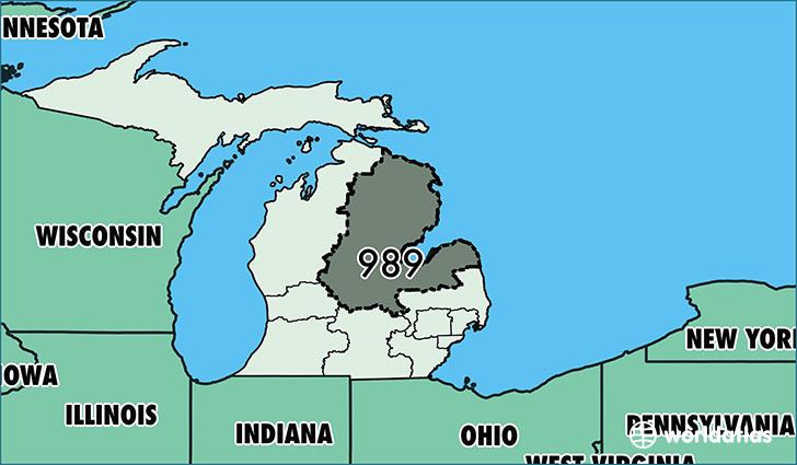 Where Is Area Code Map Of Area Code Saginaw MI Area Code - Michigan area code map