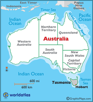 Tasmania Map / Geography of Tasmania / Map of Tasmania - Worldatlas.com