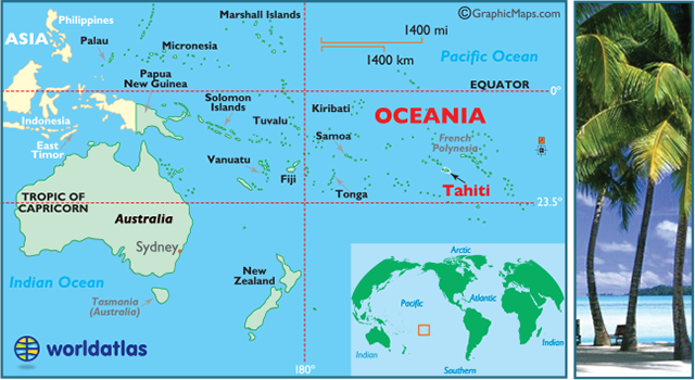 Tahiti Map / Geography of Tahiti/ Map of Tahiti - Worldatlas.com ... Papeete Map