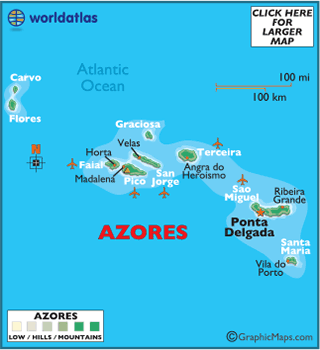 Map of Azores - European Maps, Europe Maps Azores Map Information ...