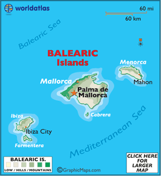 Balearic Islands Map Geography of Balearic Islands Map of