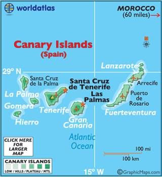 Map Of Spain Gran Canaria.Canary Islands Map Geography Of Canary Islands Map Of Canary
