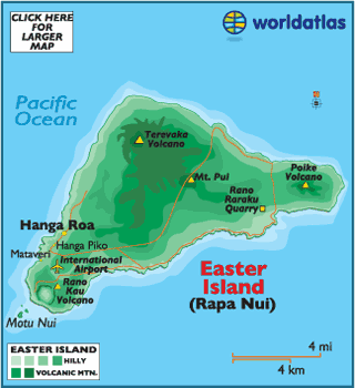 Easter Island Map World Rapa Nui Map of Easter Island Chile and Easter Island Map and