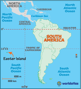 Rapa Nui Map of Easter Island Chile and Easter Island Map and ...