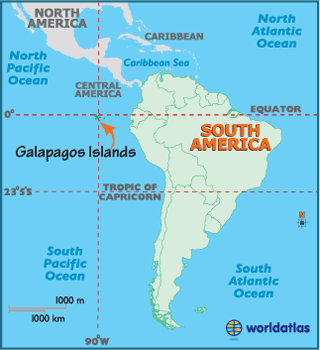 Locator Map of  Galapagos Islands