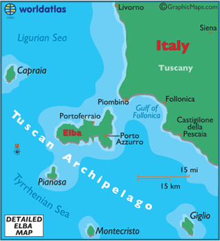 Elba Map Map of Elba Elba Outline Map World Atlas