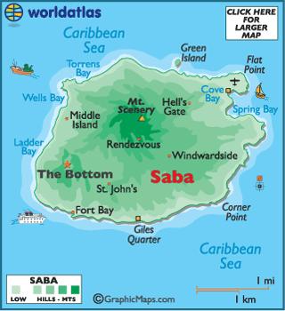 Saba latitude longitude absolute and relative locations world atlas map of saba gumiabroncs Images