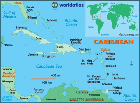 Saba Map Geography of Saba Map of Saba Worldatlas