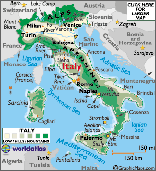 Locator Map of Sicily