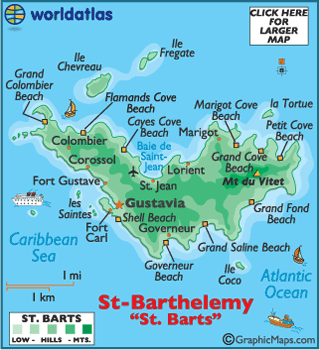 Map Of Saint Barts