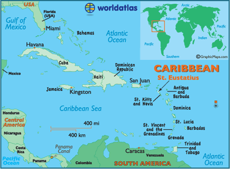 Locator Map of Saint Eustatius