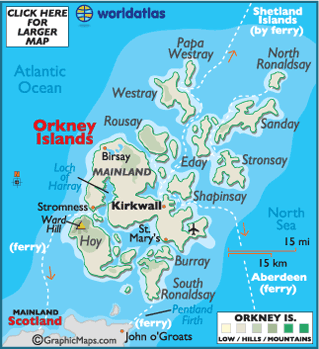 Orkney islands latitude longitude absolute and relative map of orkney islands gumiabroncs Choice Image