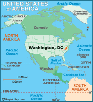 Washington Dc Map Geography Of Washington Dc Map Of Washington - Us state map with dc