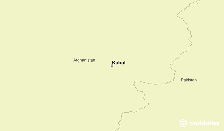 map showing the location of Afghanistan