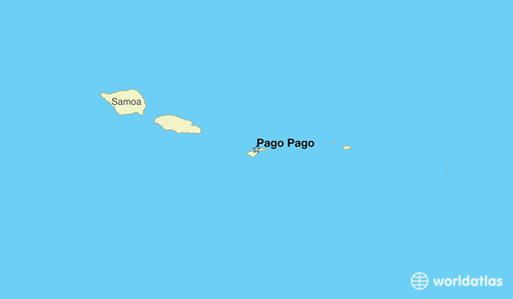 map showing the location of American Samoa