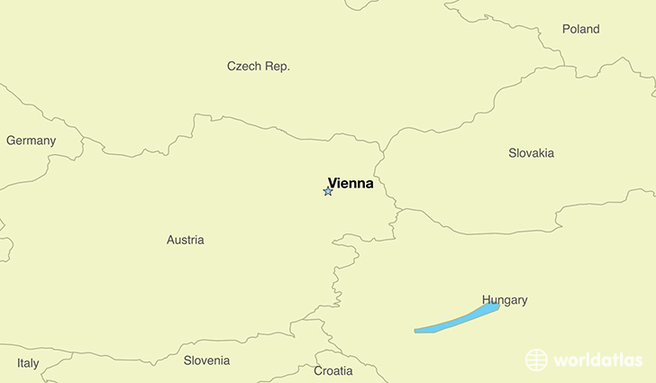 map showing the location of austria