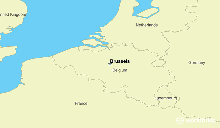 Where Is Belgium Where Is Belgium Located In The World - Brussels location on world map