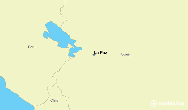 Map Showing The Location Of Bolivia