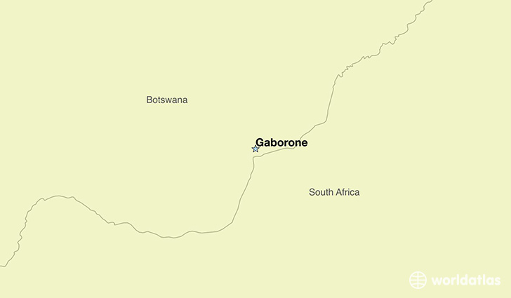 map showing the location of Botswana