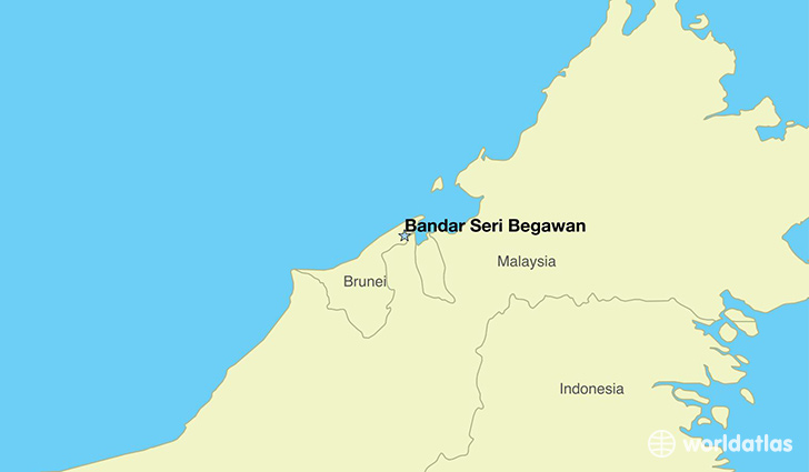 map showing the location of Brunei Darussalam