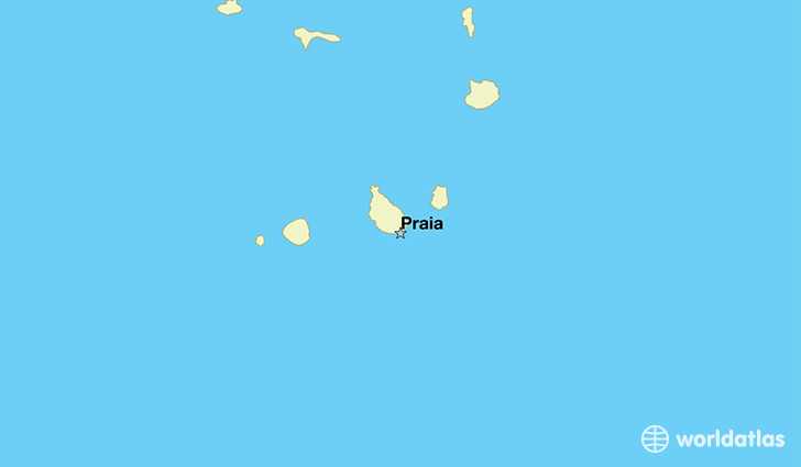 map showing the location of Cabo Verde