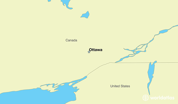 Map Showing The Location Of Canada