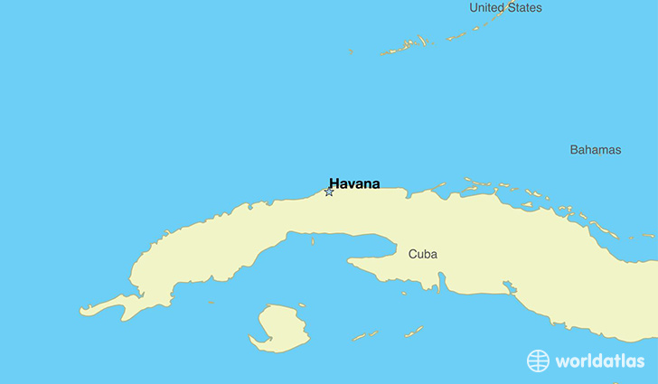 Capital Of Cuba Map on