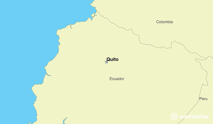 map showing the location of Ecuador