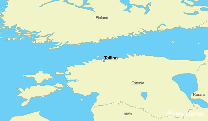 map showing the location of Estonia