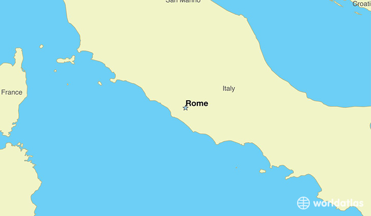 map showing the location of Italy