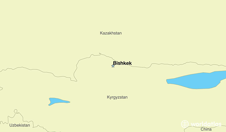 map showing the location of Kyrgyzstan