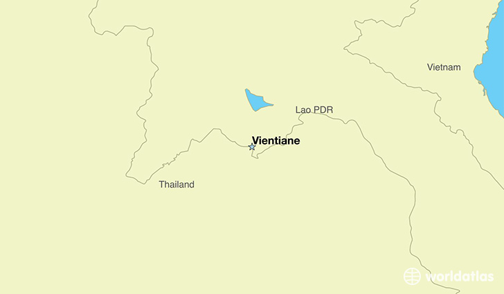 map showing the location of Laos