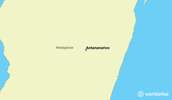 map showing the location of Madagascar