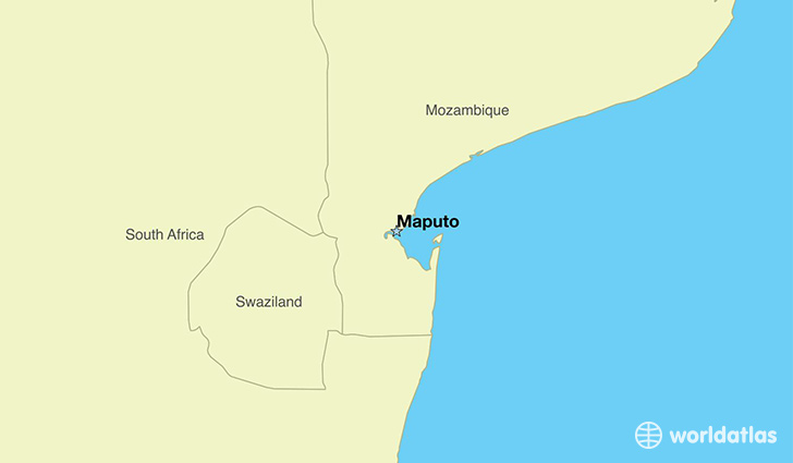 map showing the location of Mozambique