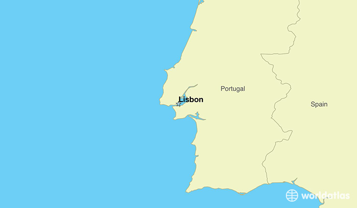 map showing the location of Portugal