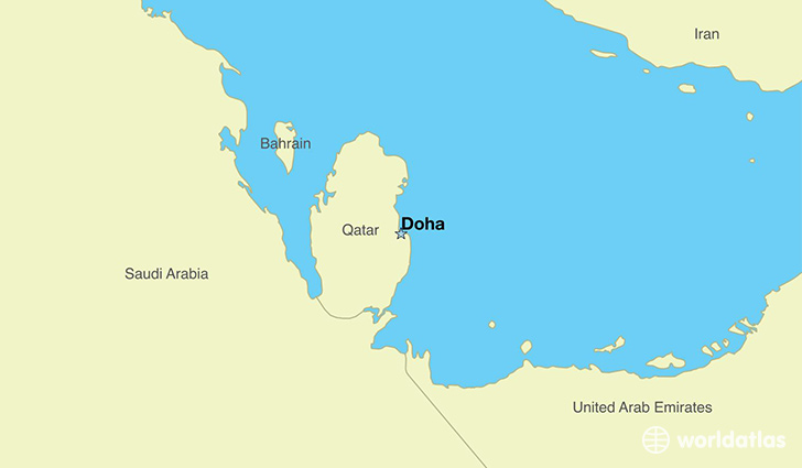 Where is qatar where is qatar located in the world qatar map map showing the location of qatar sciox Image collections