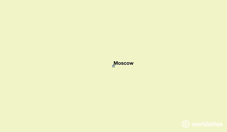 map showing the location of Russia