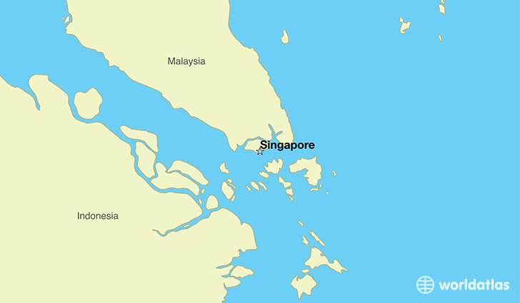 Where is singapore where is singapore located in the world map showing the location of singapore gumiabroncs Gallery
