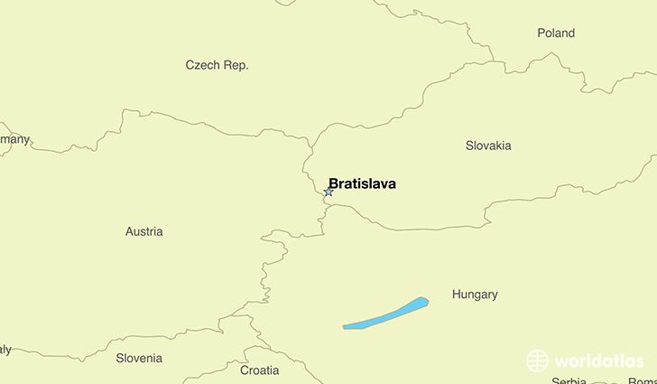 map showing the location of Slovakia