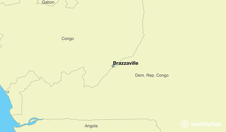 map showing the location of The Congo