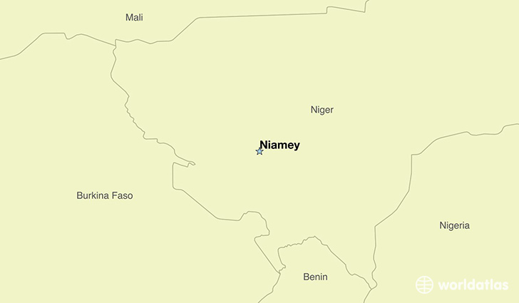 map showing the location of The Niger
