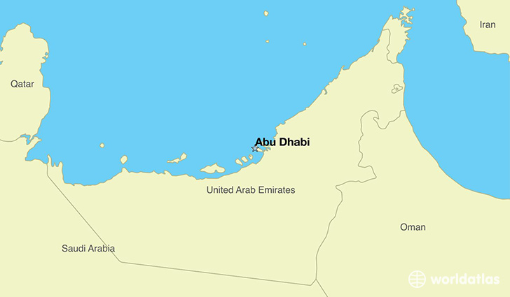 map showing the location of the united arab emirates