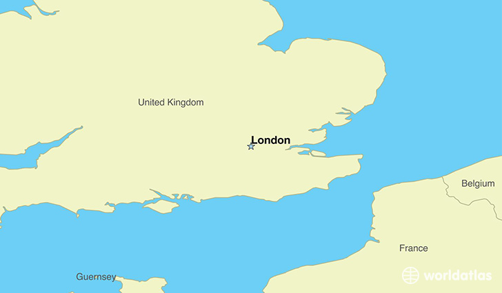 map showing the location of the united kingdom