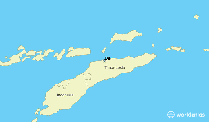map showing the location of Timor-Leste