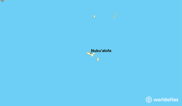 map showing the location of Tonga