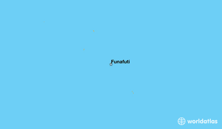 map showing the location of Tuvalu