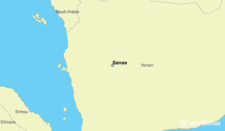map showing the location of Yemen