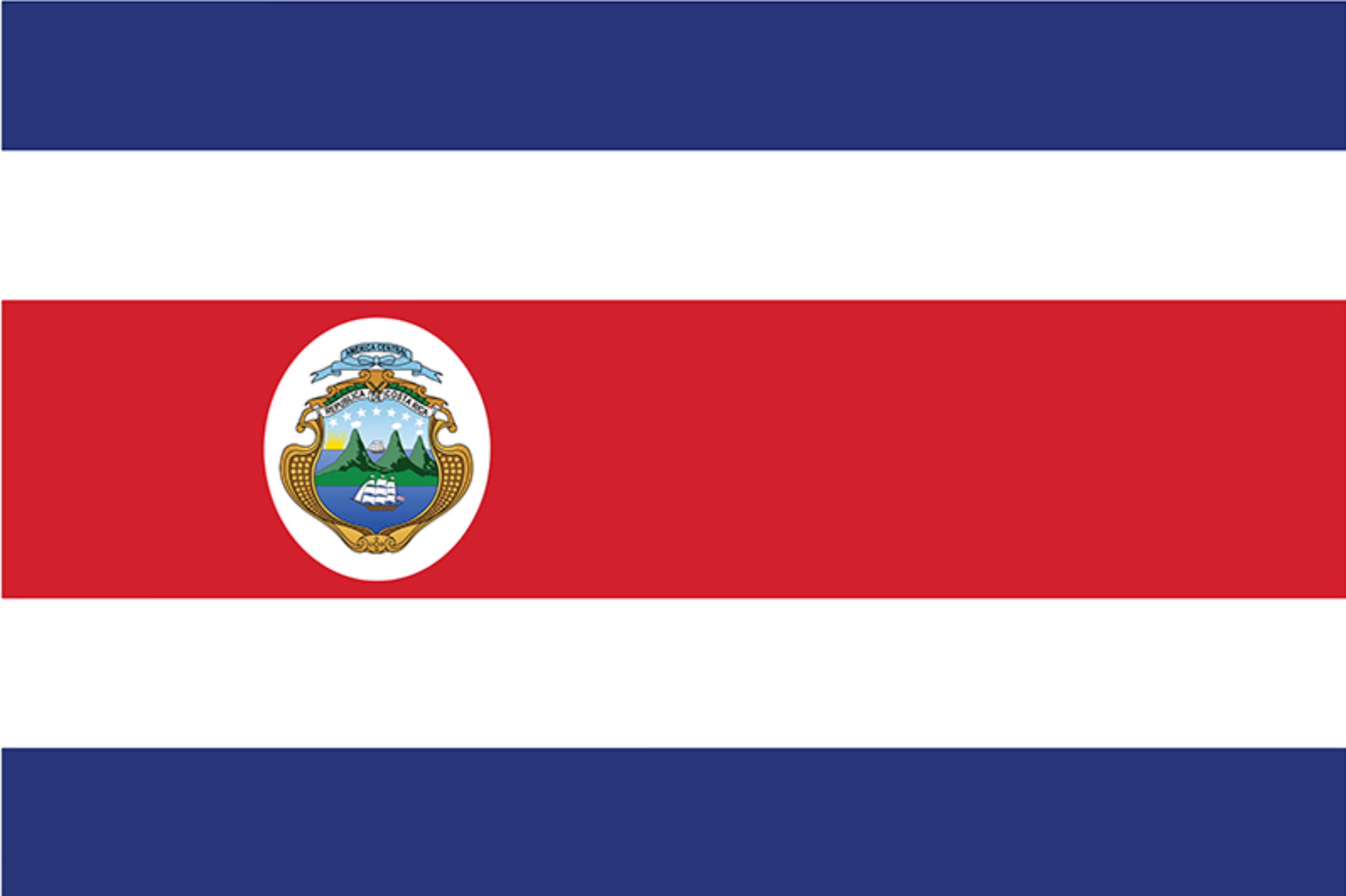 The national flag of Costa Rica.